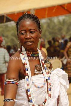 Woman at Voodoo Festival in Ouidah, Benin