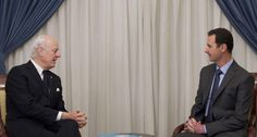 DAMASCUS: The UN's Syria envoy on Thursday discussed his peace proposals in Damascus, as Washington said it was open to talks with Moscow even as concerns grow over Russia's growing military involvement.Staffan de Mistura met Foreign Minister Walid Muallem on his sixth visit to Damascu
