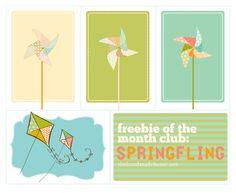 Free pinwheel printables