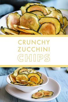 Satisfy that chip craving with these Crunchy Baked Zucchini Chips. Make a big batch to have on hand throughout the week to grab when those salt cravings come on strong or enjoy a bowl when you sit down for movie night this weekend! These chips are something the whole family can get on board with.