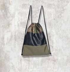 mixed textures backpack @packdesigndrugiezycie