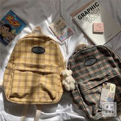 Aesthetic Backpack, Aesthetic Bags, Brown Aesthetic, Aesthetic Clothes, Stylish School Bags, Cute School Bags, Kawaii Bags, Kawaii Clothes, Stylish Backpacks