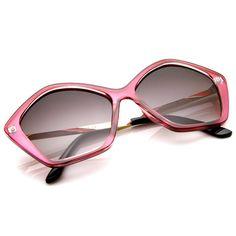 Retro Women's Sunglasses Fashion Geometric Shape Frame 8909