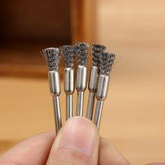 5 Stks 5mm Staaldraad Borstels dremel accessoires voor rotary gereedschap polijsten dremel Borstel dremel gereedschap accessoires voor mini boor