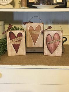Valentines,Valentine Sign,Valentine Ornaments,Valentines Day Decor,Valentine Gift,Primitive Valentine Decor,Rustic Valentine Decor by DaisyPatchPrimitives on Etsy https://www.etsy.com/listing/501655881/valentinesvalentine-signvalentine