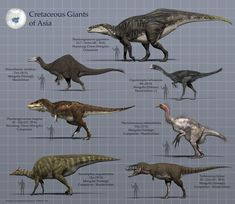 Dinosaurios gigantes del Cretácico de Asia