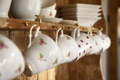 Absolutely love! #vintage #teacups #country #shabby #chic #kitchen