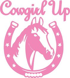 Cowgirl Star Vinyl Decal Sticker Diesel Country Funny Western Horse Trailer Pink