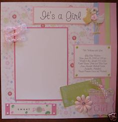 BABY GIRL 20 Premade Scrapbook Pages  Album MDQB! SWEET picture