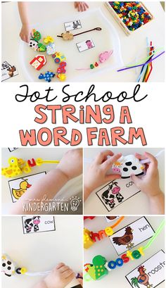 This letter bead activity is a great way to practice letter identification and fine motor skills at the same time. Perfect for a farm theme in tot school, preschool, or the kindergarten classroom.