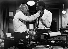 "Telly Savalas and Sidney Poitier in ""The Slender Thread"" 1965"