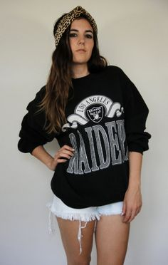 Vintage 90s Oversized Los Angeles Raiders by totalrecallvintage, $48.00