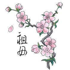 ♥ FANtÁSTICO MUNDO DA PRI ♥: Desenhos- Tatuagem Cerejeira / Cherry Blossom TATTOO