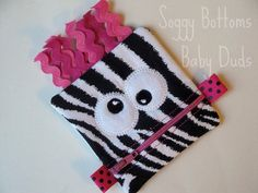 Silly Monster Change Purse  Coin Purse  by SoggyBottomsBabyDuds