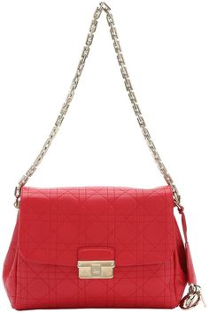 red cannage calfskin  Diorling  chain shoulder bag Fendi 7c682993904f5