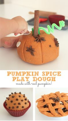 Pumpkin Spice Play Dough | Mama Papa Bubba