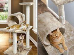 muebles para gatos con juegos y rascadores Cat Scratching Post, Cat Tree, Interior Exterior, I Love Dogs, Neutral Colors, Pets, Room, Diy, Furniture