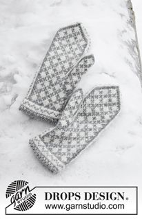 Knock Knock Santa - Knitted mittens in DROPS Karisma. The piece is worked with Nordic pattern. - Free pattern by DROPS Design Knitting Charts, Loom Knitting, Knitting Patterns Free, Free Knitting, Free Pattern, Finger Knitting, Scarf Patterns, Knitting Machine