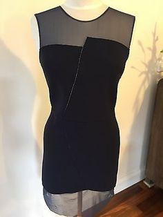 Sandro Paris Navy Blue Dress - Size 2 (10AU)