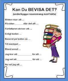 Skolkorgen: Kan du bevisa det? Learn Swedish, Swedish Language, Learning Support, Language And Literature, Deep Learning, Teaching Materials, Ten, Learn English, Middle School