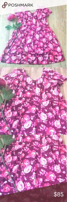 ❤️ New! Land's End Floral Dress ❤️ Gorgeous, rare, very pretty, brand new Land's End Floral Dress in a women's size 20. Soft material, back zipper. Beautiful floral pattern with magenta and wine color tones. Vibes are feminine, tea party, reception, weddings, weekend adventures, elegant dates and more. One available free gift with every purchase❤️ Lands' End Dresses