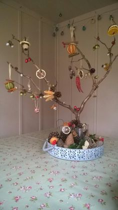 Nature inspired Christmas tree