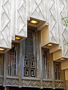 #ArtDeco | Exterior detail, Sinclair Building, Main Street, Fort Worth, Texas, U.S.A. Designed by Wiley G. Clarkson, 1930.