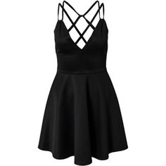 Nly One Cross Back Plain Dress