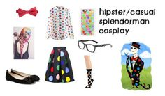 """SplendorMan Female casual/Hipster cosplay"" by willowokimaw on Polyvore featuring Dolce&Gabbana, Happy Socks, Casetify and MANGO"
