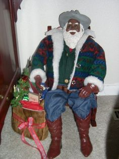 Love this cowboy santa from my collection...Merry Christmas Ya'll!
