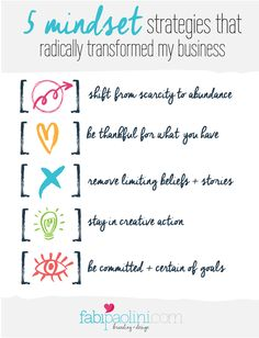 5 mindset strategies that radically transformed my business. Click to read more!