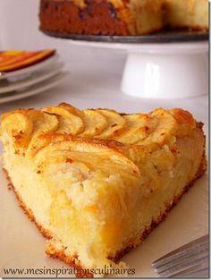 gateau_aux_pommes_crème_frangipane❤️❤️❤️ - Food and drink - Leckeres Apple Recipes, Sweet Recipes, Cake Recipes, Dessert Recipes, No Cook Desserts, Delicious Desserts, Yummy Food, Creme Frangipane, Desert Recipes