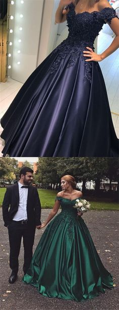 elegant off the shoulder prom dress with lace beading, fashion satin ball gown party dress with appliques, luxury off the shoulder ball gown evening dress B0424