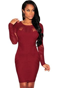 Stylish Long Sleeve or Sleeveless Bodycon Dress. Party Dresses For WomenSexy  ... 28f24fb59dab