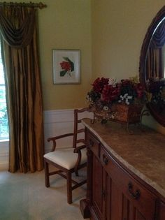 Dining Room. Paint - Benjamin Moore Chestertown Buff. Furniture - Erin's Cottage by Pennsylvania House.