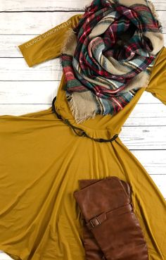 Lularoe fall fashion! Mustard Lularoe Nicole is a gorgeous dress to wear your Lularoe this fall! Click to shop and get more style tips!