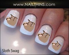 **NEED**  Sloth Nail Decals, $3.75 / 37 Adorable Sloth Items You Can Buy On Etsy (via BuzzFeed)