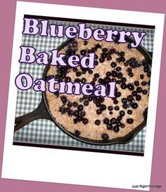 E~Blueberry Baked Oatmeal