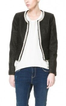 Hanna Marin outfit. Zara - Embroidered Black Leather Jacket worn by Hanna Marin on Ravenswood. Ravenswood fashion, clothing. Shop it. http://www.pradux.com/zara-embroidered-leather-jacket-25292?q=s51