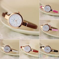 Cheap Women's Wristwatches, Buy Directly from China Suppliers: Women's Rhinestone Faux Leather Super Thin Strap Quartz Analog Dress Wrist Watch      A striking design, this