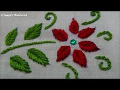 Fish Bone Stitch-Hand Embroidery Tutorials By Nagu's Handwork Embroidery Leaf, Hand Embroidery Videos, Blackwork Embroidery, Hand Embroidery Tutorial, Learn Embroidery, Silk Ribbon Embroidery, Embroidery For Beginners, Hand Embroidery Patterns, Embroidery Techniques