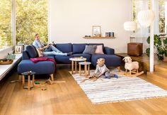 Micasa Wohnzimmer mit Teppich THERESE und Papierschirm AMELIA
