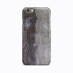 Wood Mandala Flower Hard Case Cover For Apple iPhone 4 4S 5 5S 5c SE 6 6S 7 Plus #Apple