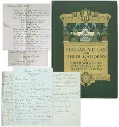 """""""Italian Villas and Their Gardens"""" by Edith Wharton"""
