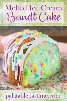 Melted Ice Cream Bundt Cakeisan easy-mix Bundtcake, with pound cake texture and all the magical fun of cotton candy, unicorns and whimsy. Blueberry Ice Cream, Strawberry Ice Cream, Cow Cupcakes, Cotton Candy Cakes, Creamsicle Cake, Cotton Candy Flavoring, Sprinkle Cookies, White Cake Mixes, Cupcake Frosting