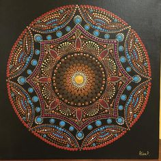 Dot Art Painting, Mandala Painting, Pebble Painting, Mandala Art, Dotted Drawings, Vinyl Record Art, Stained Glass Paint, Mandala Rocks, Stone Art