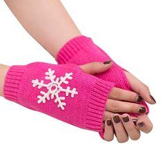 1 Pair Girls Winter Gloves Lovely Cartoon Soft Plush Gloves  Seal Pattern Mitten