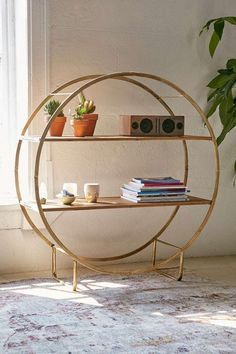 Brigid Circle Shelf - Urban Outfitters from Urban Outfitters. Saved to Quick Saves. Circle Shelf, Interior Decorating, Interior Design, First Apartment, New Room, Decoration, Home And Living, Interior And Exterior, Home Furniture