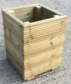 Decking Wooden Garden Planter / Storage Box / Seat – Large Square wide – Available with a lid - All About Gardens Deck Planters, Planter Bench, Wooden Garden Planters, Wooden Planter Boxes, Tiered Garden, Diy Planter Box, Indoor Planters, Wooden Garden Furniture, Wooden Flower Boxes