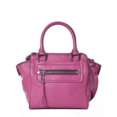 SANCTUARY Little Hero Leather Tote Bag in Plum